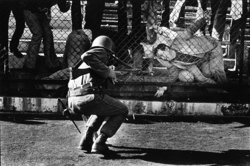 Chili, Santiago, september 1973. At the stadion of Santiago people are being imprisoned.