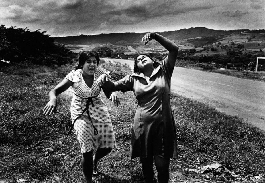 Nicaragua, Esteli, 1978. Mourning women.