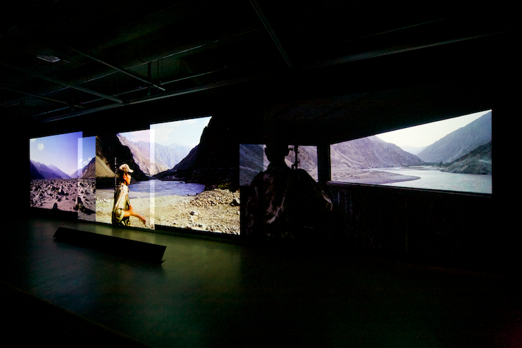 Multiscreen installation Poppy - Trails of Afghan Heroin