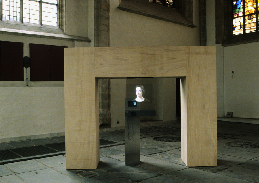 Luc Courchesne, PortraitOne, 1990	 at the Oude Kerk