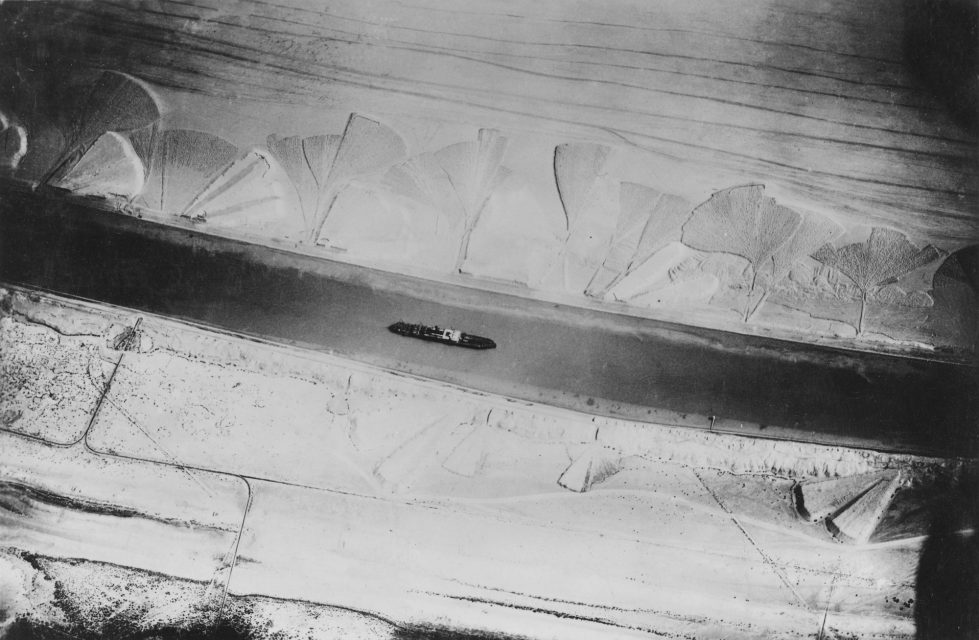 Suezkanal, Aerial photograph, 1917