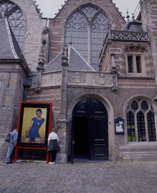 Entrance to the exhibition at the Oude Kerk (Old Church), Amsterdam