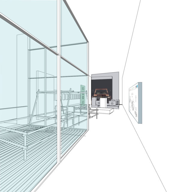 Exhibition sketch of Turtle 1 Showroom