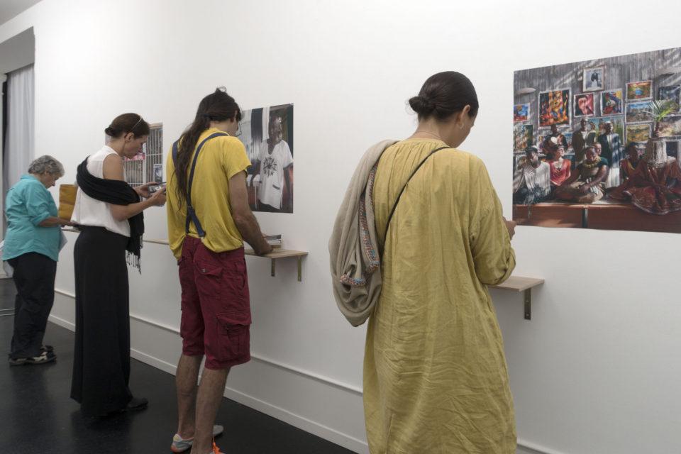 Ebifananyi books at the exhibition 'Flurina Rothenberger / Andrea Stultiens', Pasquart Photoforum, Biel (CH) in 2016.