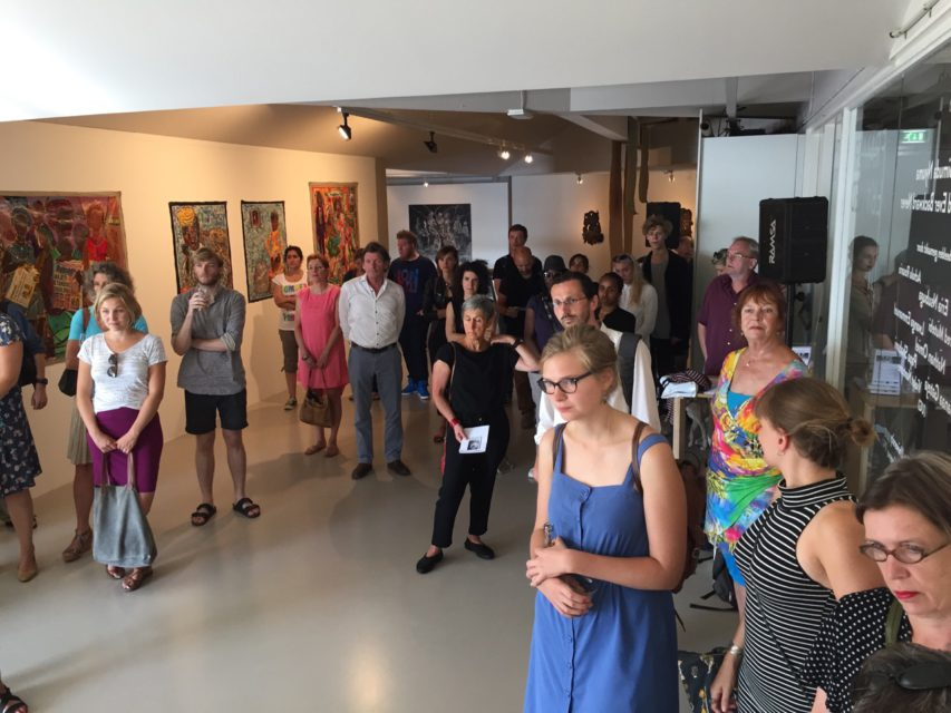 Opening of the exhibition of 'Simuda Nyuma – Forward Ever Backward Never' (Ebifananyi IV) at Framer Framed, Amsterdam (2015)