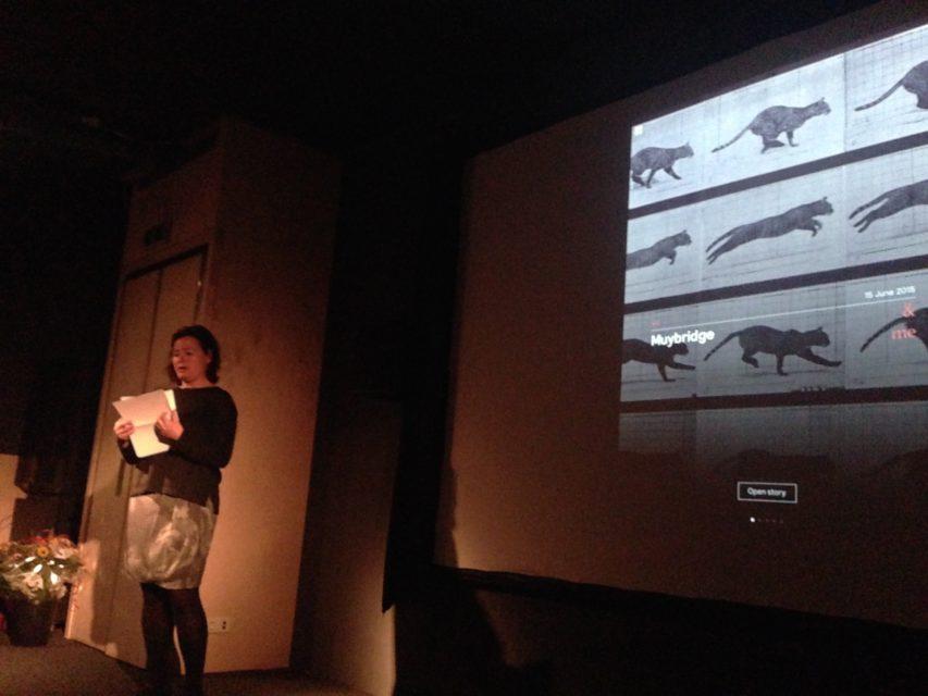 Dana Linsen, film critic at NRC Handelsblad, introduced the app