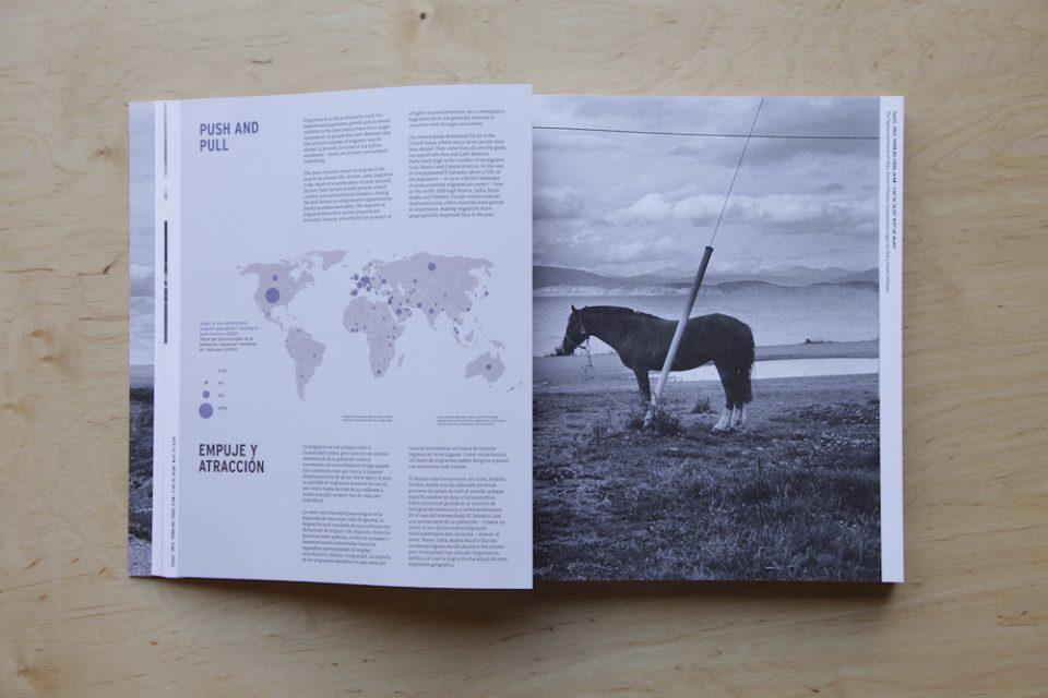 Page from Via PanAm, Kadir van Lohuizen. Design: Heijdens Karwei