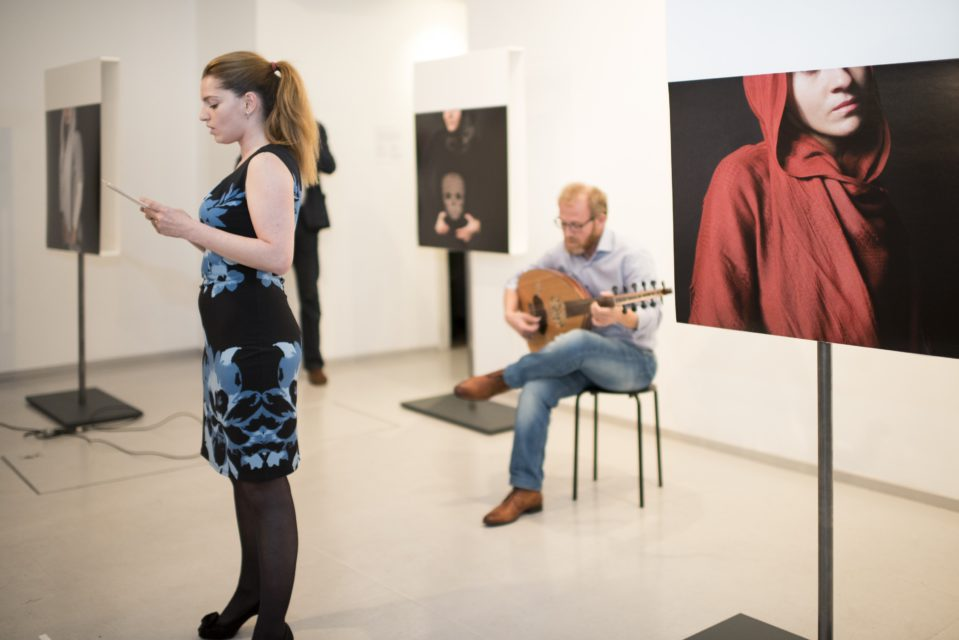 Sarah Akili Zegers and Gharib performing the excerpts from the 