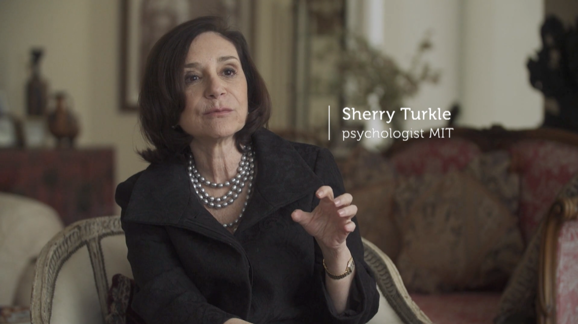 Still from Offline is the New Luxury, for which Van der Haak spoke to renowned MIT professor Sherry Turkle