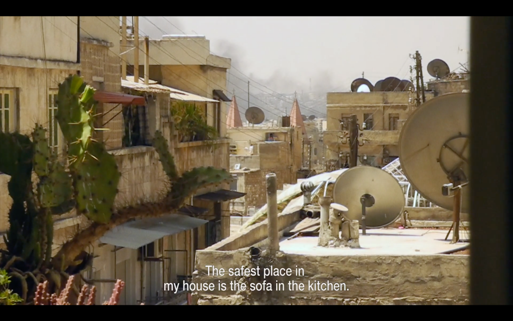 Still from 9 days - From My Window in Aleppo