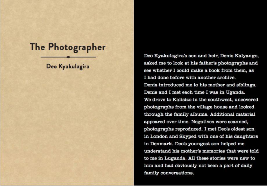 Book cover Ebifananyi I – The photographer - Deo Kyakulagira