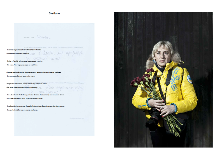 Spread from Maydan - Hundred Portraits