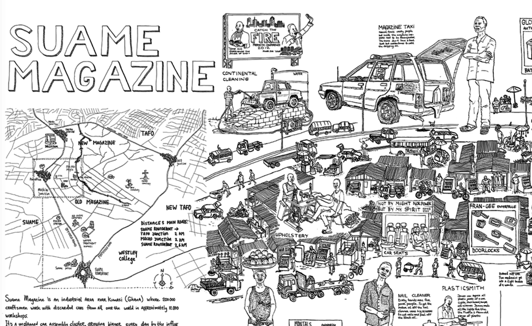 Detail of map Suame Magazine