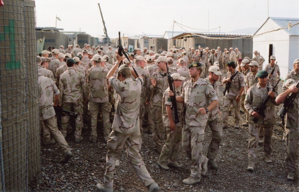 After the JSD /LSD roll call in Camp Holland. // Uruzgan, Afghanistan 04.2009