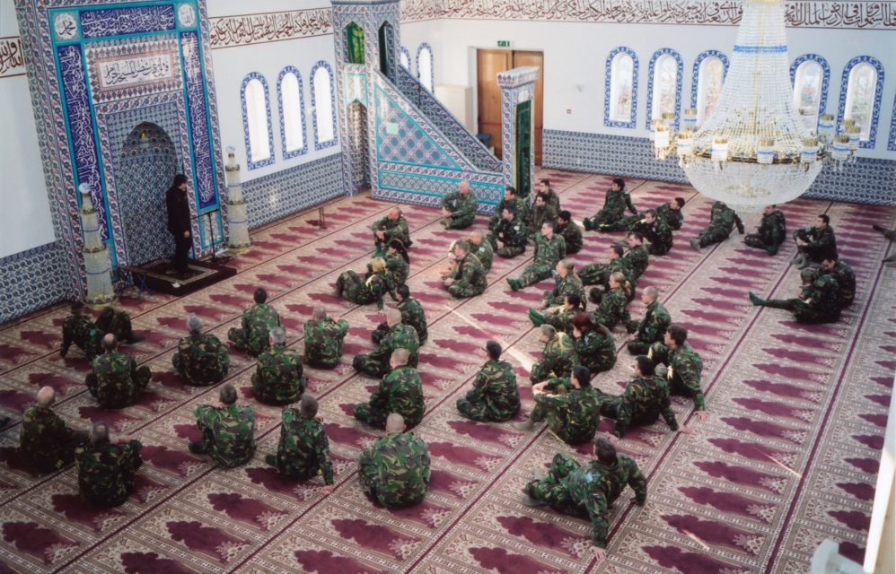 Visit by the JSD /LSD to the Dyanet mosque. The soldiers are given an explanation by an Islam expert. // Harderwijk 06.01.2009