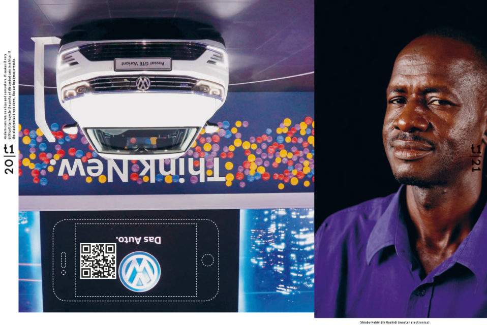 Pages from the book Turtle 1 - building a car in Africa. Design: Ko Sliggers