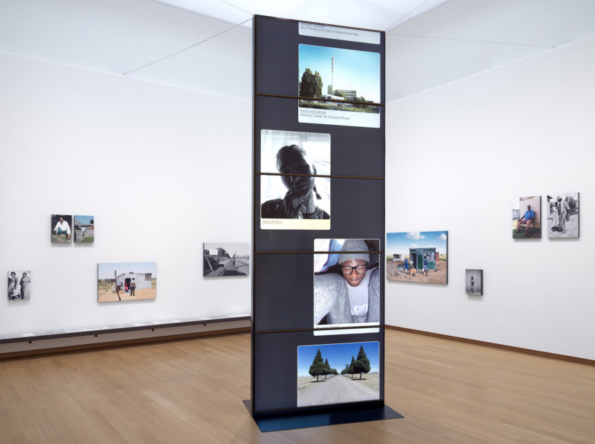Installation view Welkom Today – Ad van Denderen, Lebohang Tlali and many others, 2019, Stedelijk Museum Amsterdam.