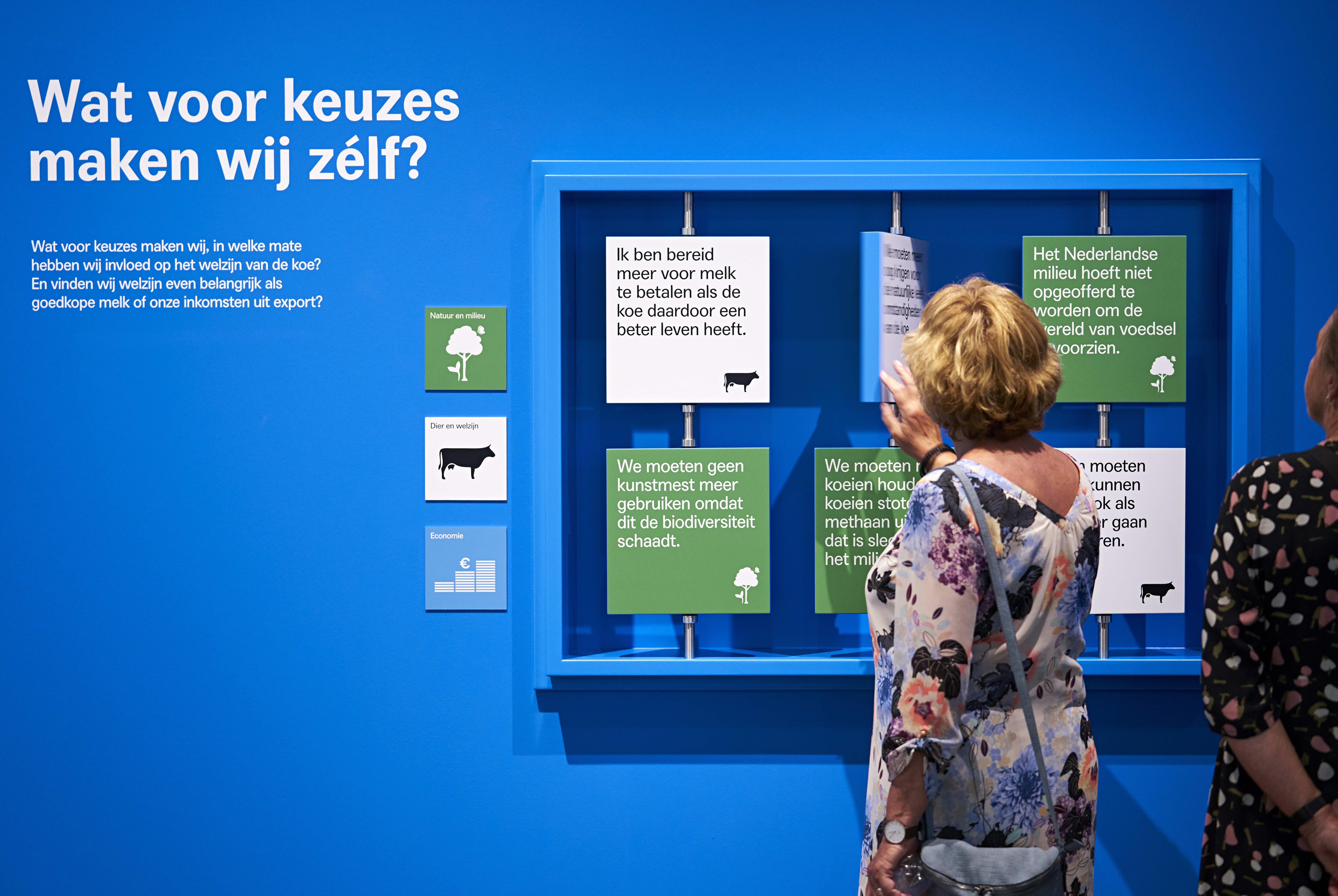 Which choices do we make? Interactive element in the exhibition at Stedelijk Museum Alkmaar.