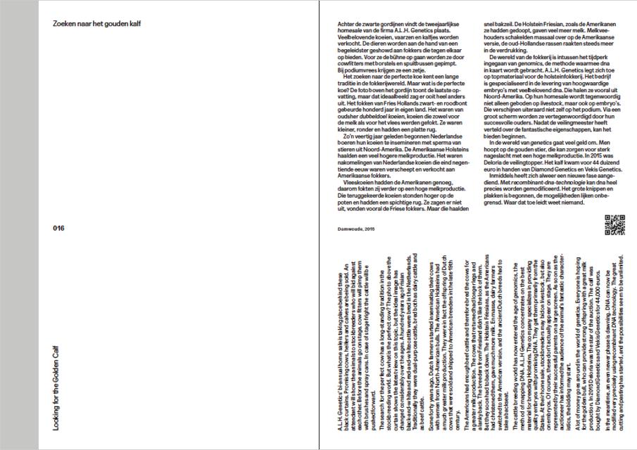 Looking for the Golden Calf, column by Hans van der Meer