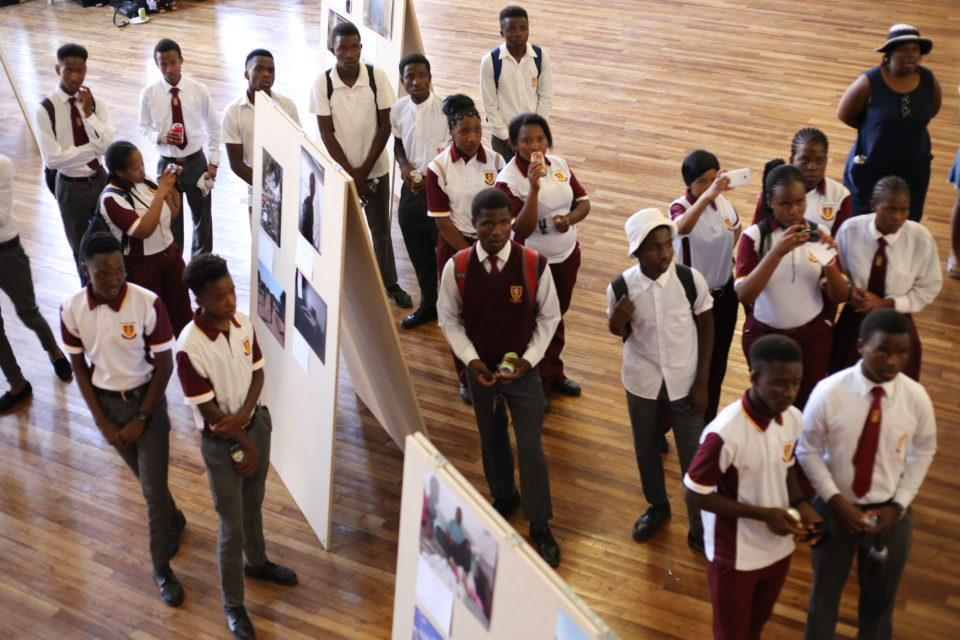 Opening of the exhibition with work of the students from three schools in Welkom.