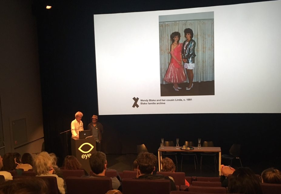 Ad and Lebo discussing Welkom Today at Political Art & Uncertain Endings: discussion at Eye Amsterdam, June 2019