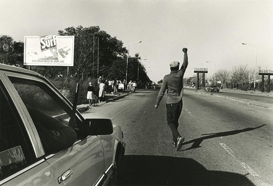 Riots at Thabong township, South Africa, 1990