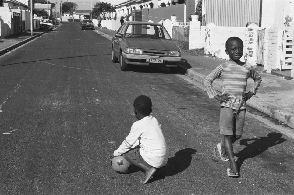 Childeren playing on the streets of Thabong, South-Africa, ca. 1999