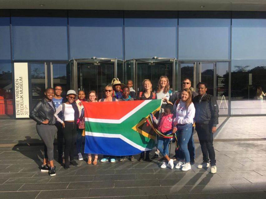 Visiting delegation from Welkom/Thabong outside Stedelijk Museum Amsterdam, September 2019