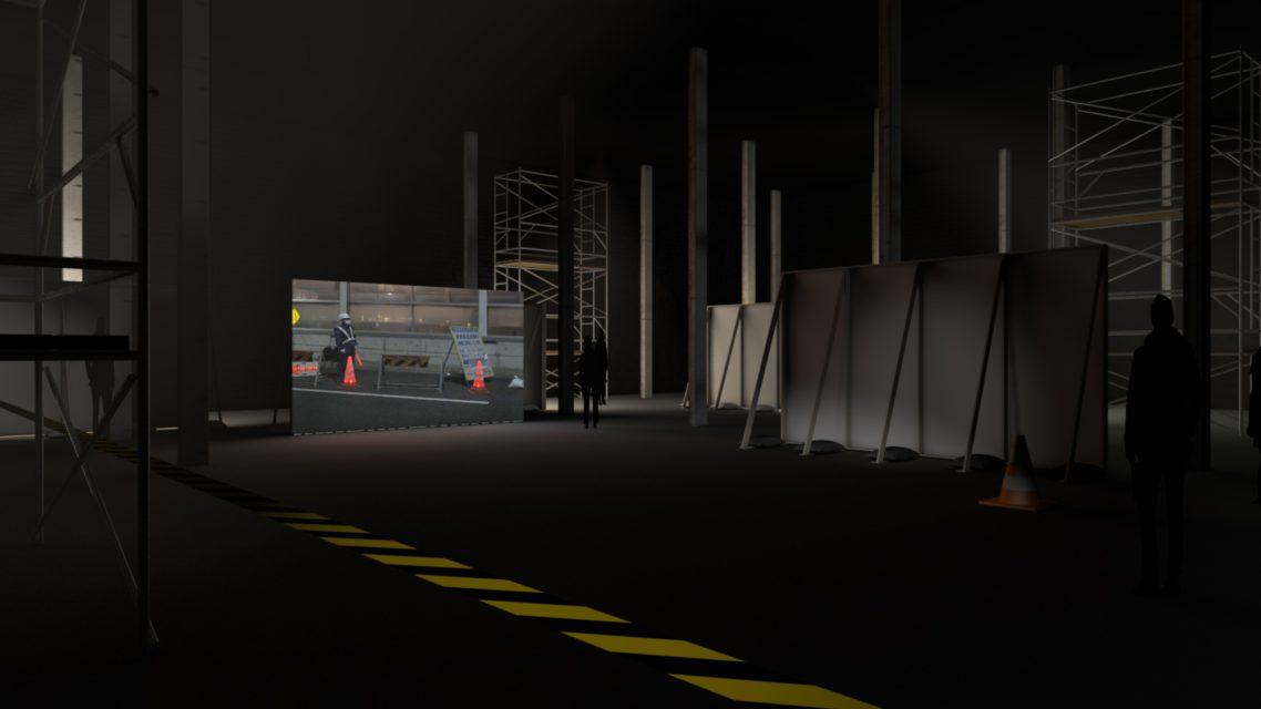 Mono Men 5 screen installation (study)