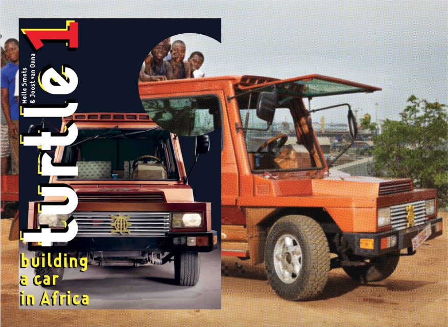 Front Cover Turtle 1 - Building a car in Africa. Design: Ko Sliggers