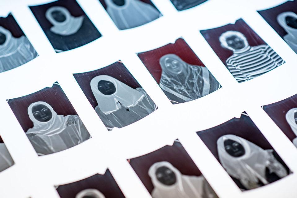 Found negatives displayed on light boxes at Studio Aleppo [Amsterdam] at Felix Meritis