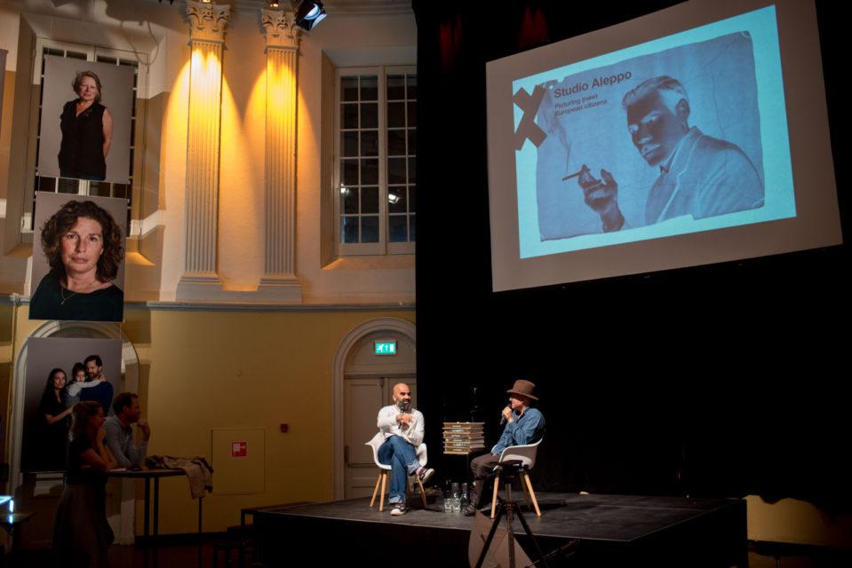 Festive wrap-up of Studio Aleppo [Amsterdam], Bahram Sadeeghi interviewing Issa Touma