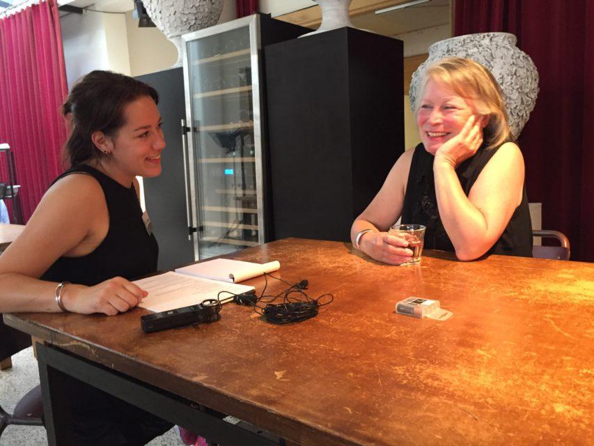 Interviewing a participant during Studio Aleppo [Amsterdam]