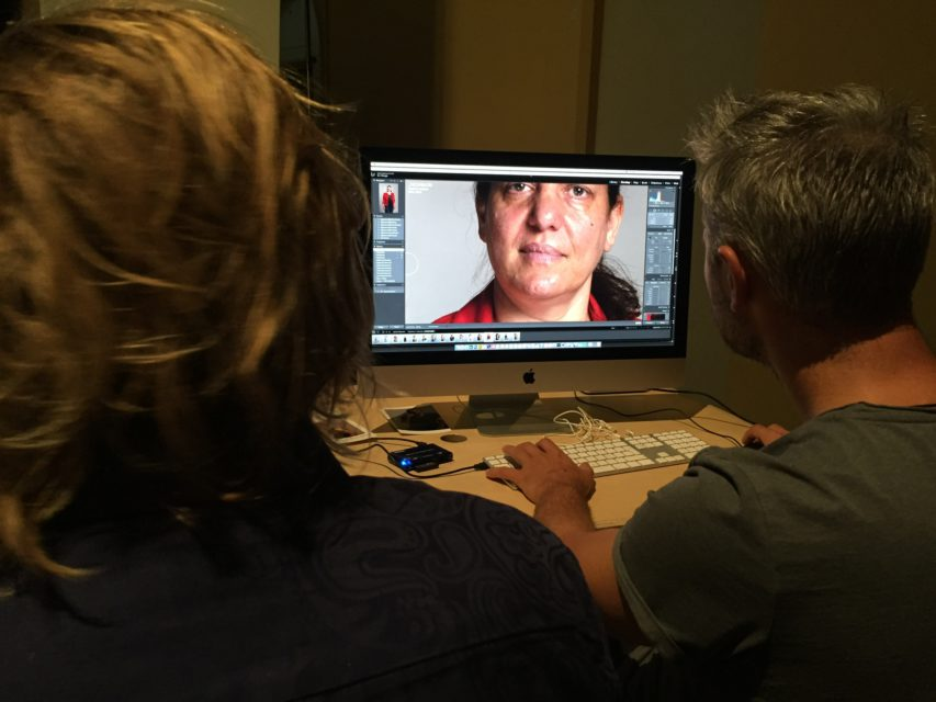 Portraits being edited at Felix Meritis