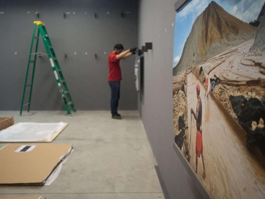 Installing Via PanAm at Centro Cultural de España, Guatemala City (2016)