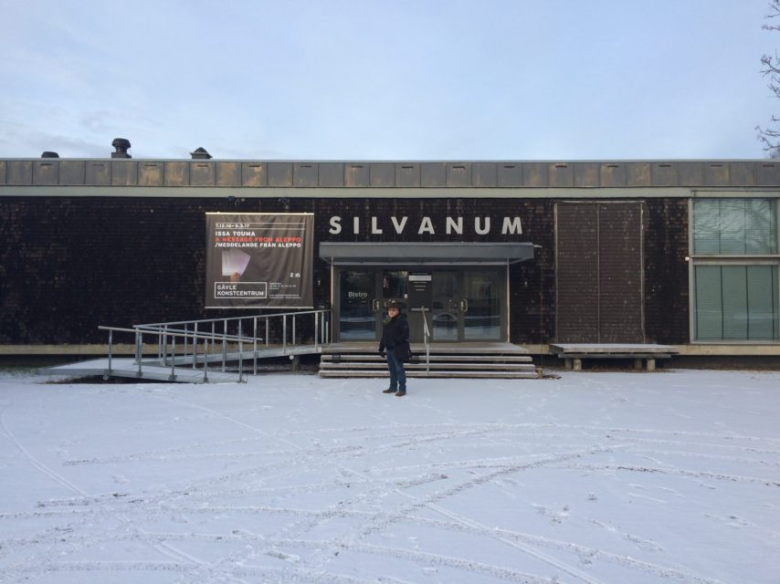 Photographer Issa Touma in front of Konstcentrum Gävle. Women We Have Not Lost Yet is on show until 5 March 2017.