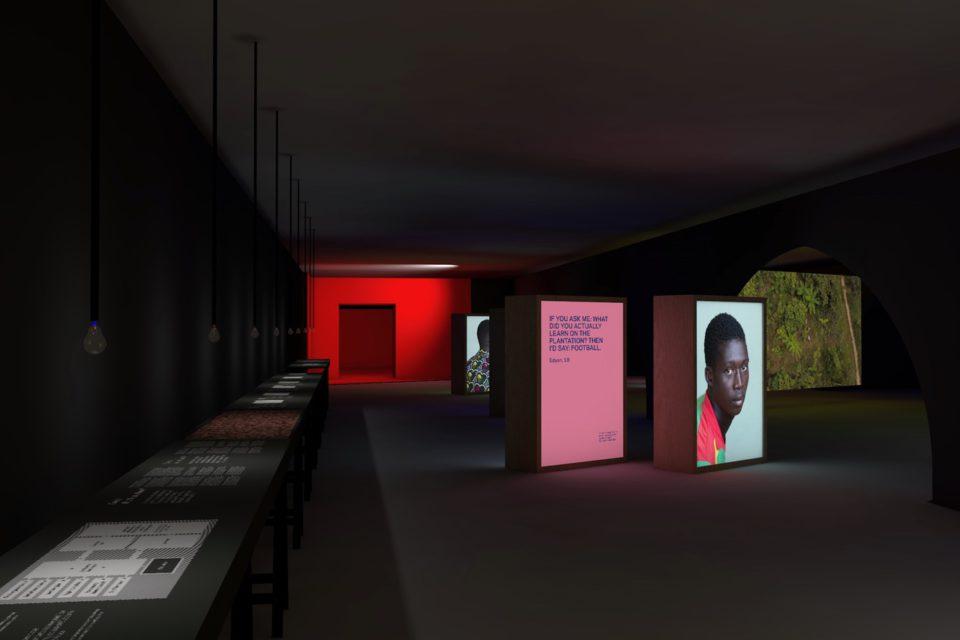 Mock up exhibition BITTER at Beurs van Berlage, Amsterdam.