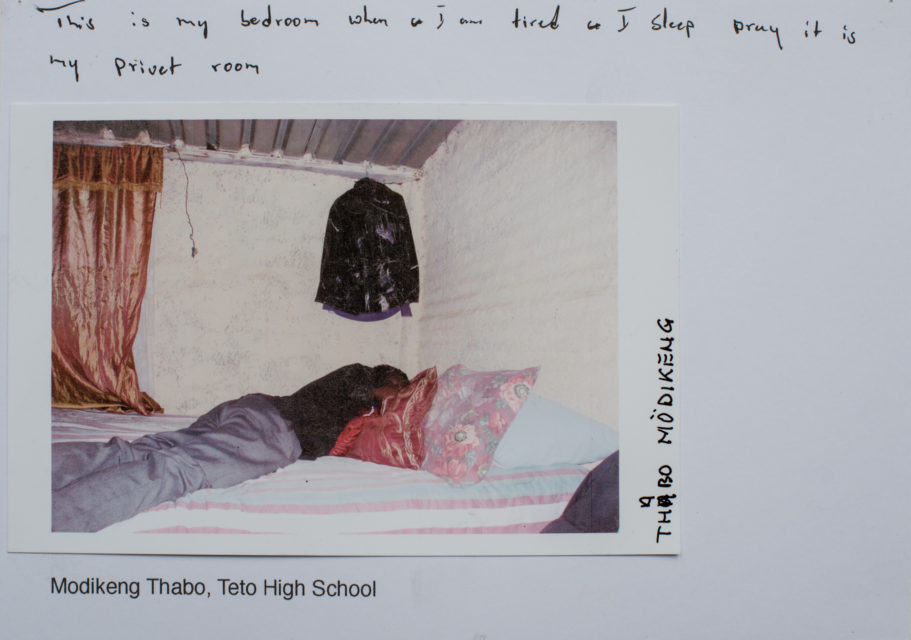 'This is my bedroom. When I am tired, I sleep and pray. It is my private room.'