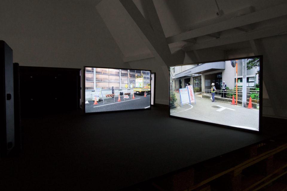 Installation of Mono Men at 'Why Work' exhibition at Fotodok