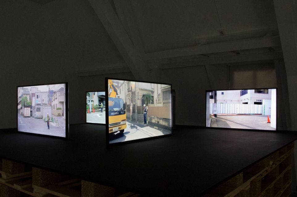 Installation of Mono Men at 'Why Work' exhibition at Fotodok