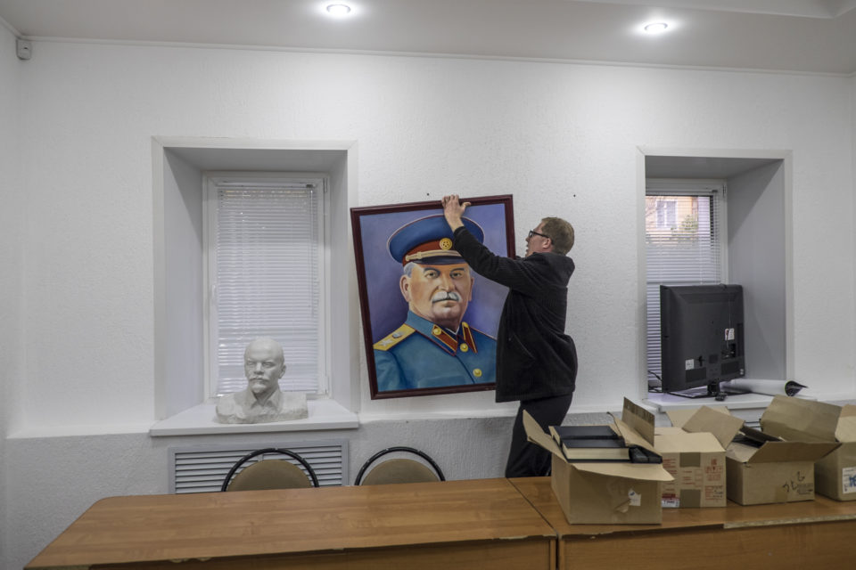 Dmitri Filjayev is the chairman of the Stalin centre. Russia's first Stalin centre was opened in the city of Penza in 2015.