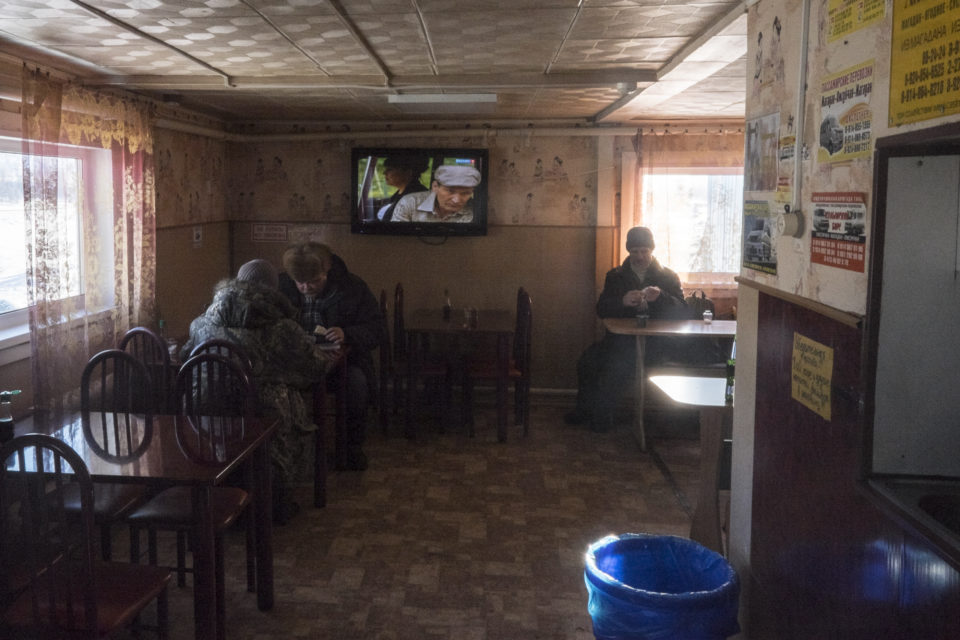 A café on the road from Magadan to Yagodnoye. This road is called the road of bones because it was build by prisoners straight through the permafrost.