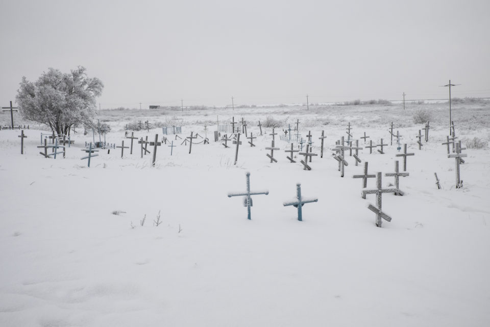 A mass grave close to the former Gulag town Vorkuta. Until this day undiscovered mass graves are found.