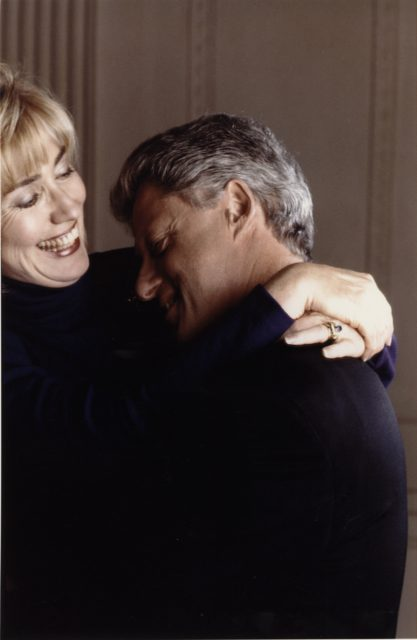 Eddie Adams, Bill en Hillary Clinton, 1995, Fotocollectie ABC Press, Nationaal Archief