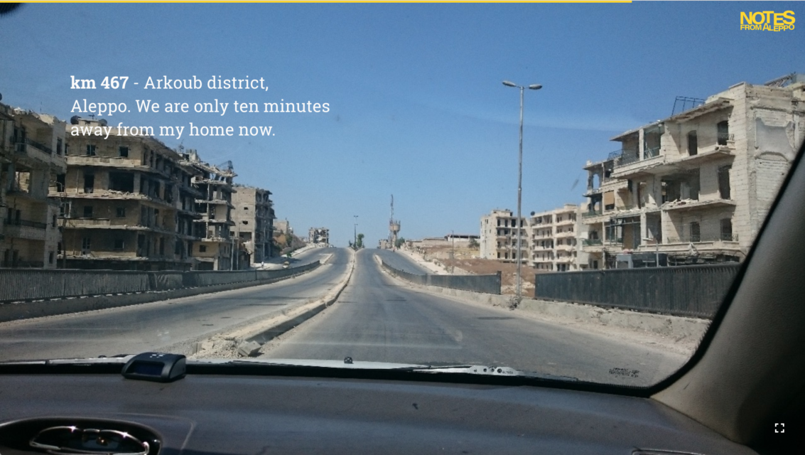 Arkoub district, after entering Aleppo from Castello Road, the last route access to the city during the conflict.
