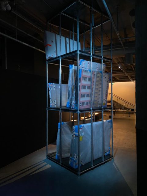 The selection of physical works in the exhibition will be changed twice, works not on display are stored in this tower